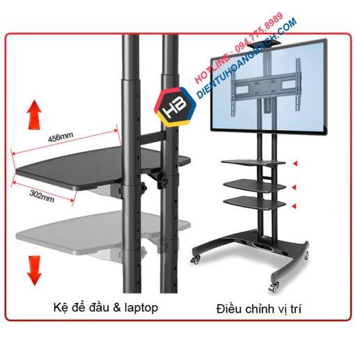 AVA1500 5 510x510 - GIÁ TREO TIVI DI ĐỘNG NB AVA1500-60-1P (32-65 INCH)
