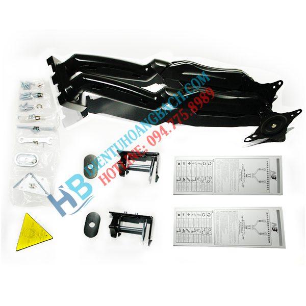 F160 thiết kế 600x600 - GIÁ TREO 2 MÀN HÌNH ĐỂ BÀN F160 (17-27 INCH)