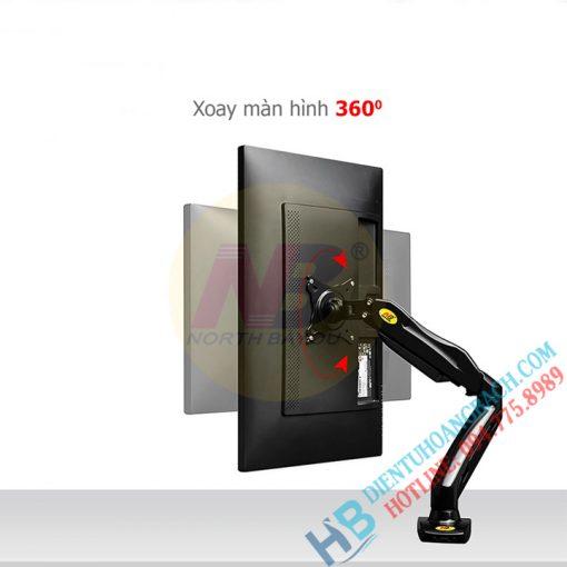 F80 tính năng 04 510x510 - GIÁ TREO MÀN MÁY TÍNH GẮN BÀN NB F80 (17-27 INCH)