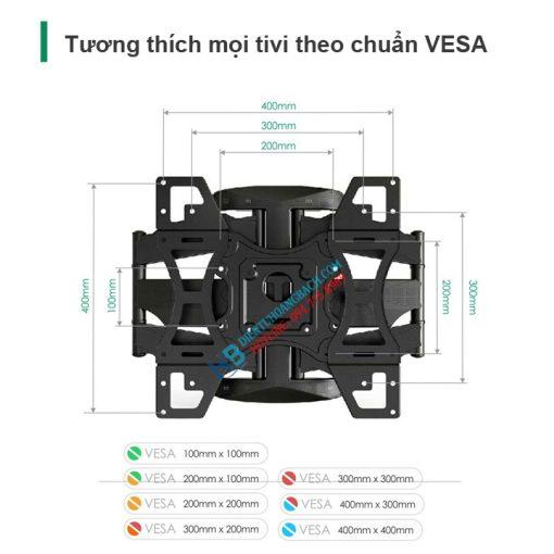 L400 VESA 510x510 - GIÁ TREO TIVI ĐA NĂNG L400 - DF600 32-70 INCH