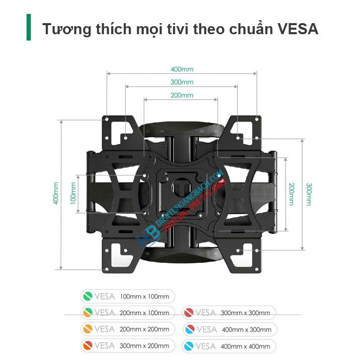 L400 VESA - GIÁ TREO TIVI ĐA NĂNG L400 - DF600 32-70 INCH