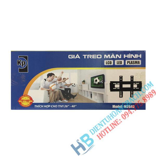 M2640 vỏ hộp 600x600 - GIÁ TREO TIVI THẲNG M2640 (26-40 INCH)