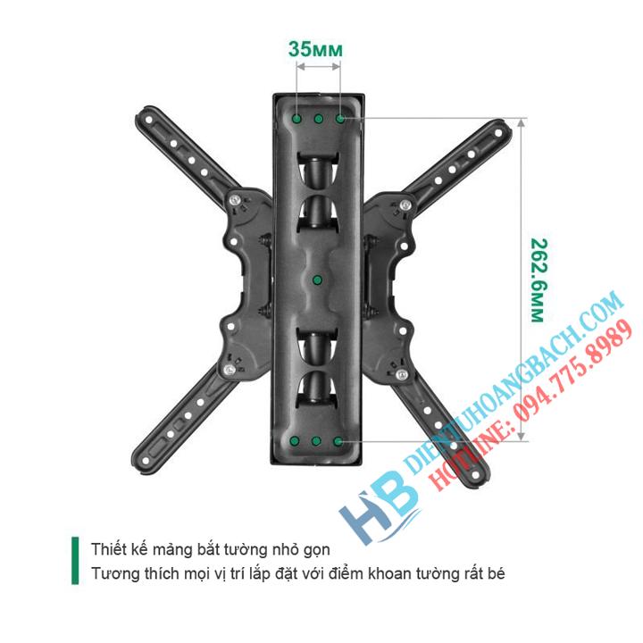 P4 bắt tường - GIÁ TREO TIVI XOAY ĐA NĂNG P4 - DF400 (32-55 INCH)