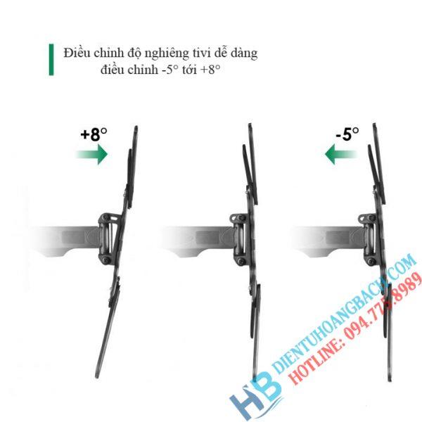 P4 góc nghiêng 600x600 - GIÁ TREO TIVI XOAY ĐA NĂNG P4 - DF400 (32-55 INCH)