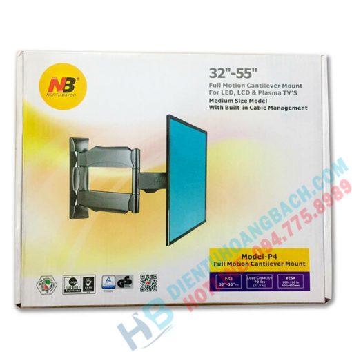 P4 vo hop 510x510 - GIÁ TREO TIVI XOAY ĐA NĂNG P4 - DF400 (32-55 INCH)