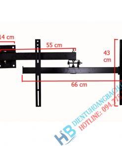 X42 kích thước 1 247x296 - GIÁ TREO TIVI XOAY GÓC X42 (40-55 INCH)