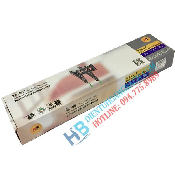 C2T vỏ hộp 600x600 - GIÁ TREO TIVI GẬT GÙ C2T (32-55 INCH)