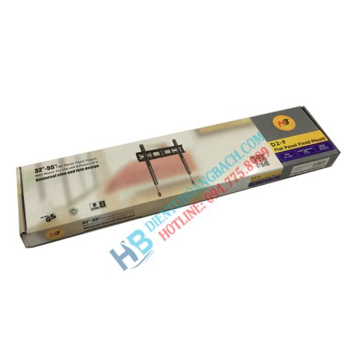 D2F vỏ hộp 510x510 - GIÁ TREO TIVI THẲNG NB-D2F (32-55 INCH)
