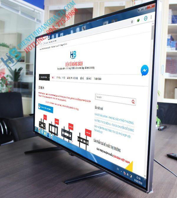 nh lắp đặt thực tế 600x671 - CHÂN ĐẾ TIVI ĐỂ BÀN ĐA NĂNG TV02 32 - 60 INCH