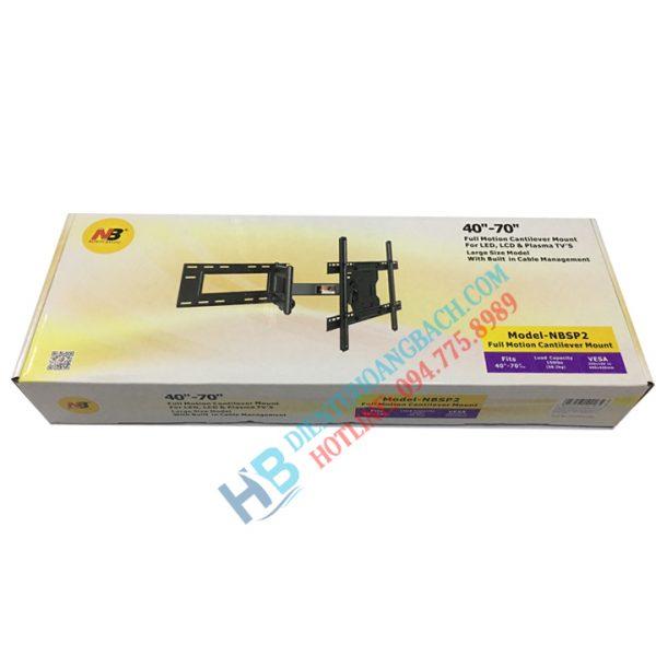 SP2 vỏ hộp 600x600 - GIÁ TREO TIVI XOAY NB-SP2 40 -70 INCH
