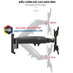 F425 điều chỉnh độ cao 247x247 - GIÁ TREO MÀN HÌNH MÁY TÍNH F425 27 - 45 INCH