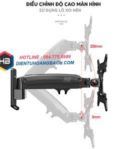 F425 điều chỉnh độ cao 247x296 - GIÁ TREO MÀN HÌNH MÁY TÍNH F425 27 - 45 INCH