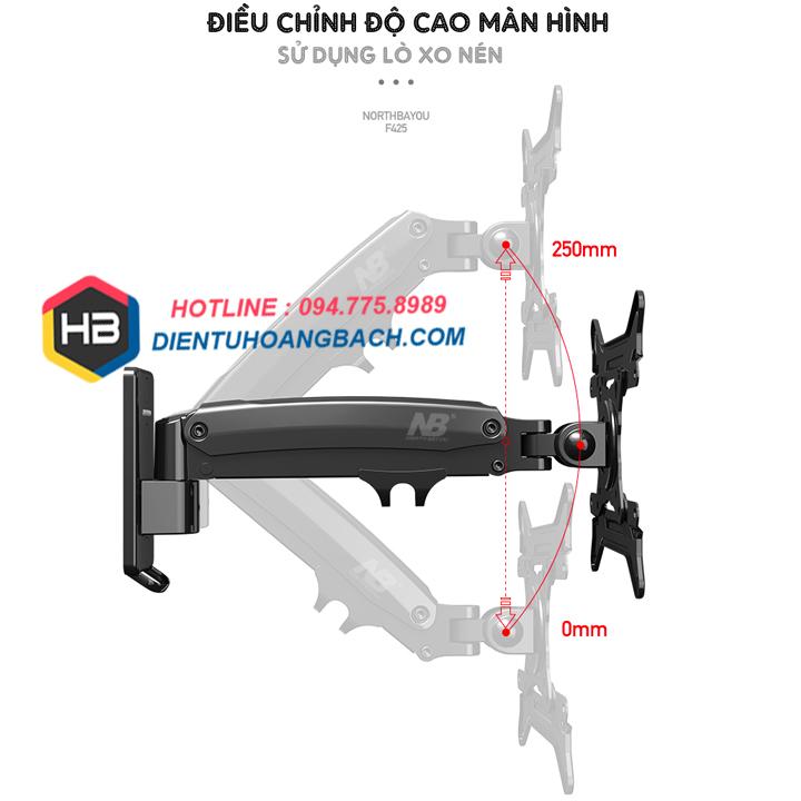 F425 điều chỉnh độ cao - GIÁ TREO MÀN HÌNH MÁY TÍNH F425 27 - 45 INCH