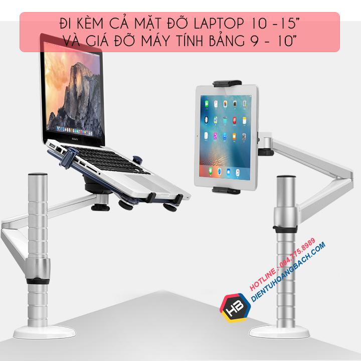 gia treo do laptop macbook may tinh bang 10 15 inch 2 - GIÁ ĐỠ LAPTOP - MACBOOK - IPAD OA-1S 10 - 15 INCH