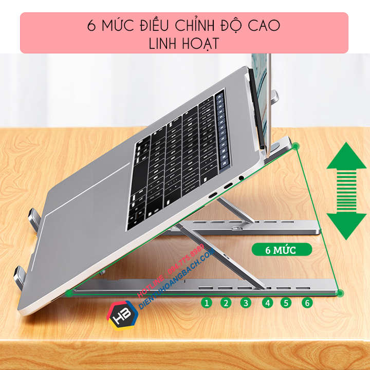 gia do laptop macbook may tinh bang tan nhiet 2 - GIÁ ĐỠ LAPTOP - MACBOOK - SURFACE LS501 10 - 17.3 INCH GẤP GỌN